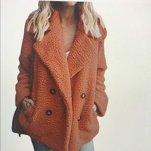 Teddy orangish brown coat